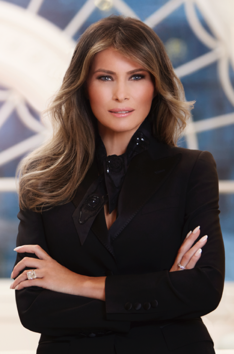 First Lady Melania Trump's first official White House portrait.
