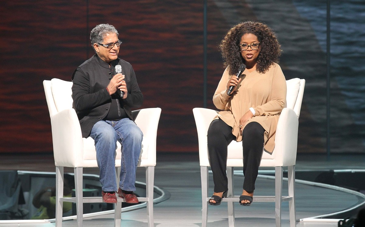 Deepak Chopra and Oprah Winfrey in 2014