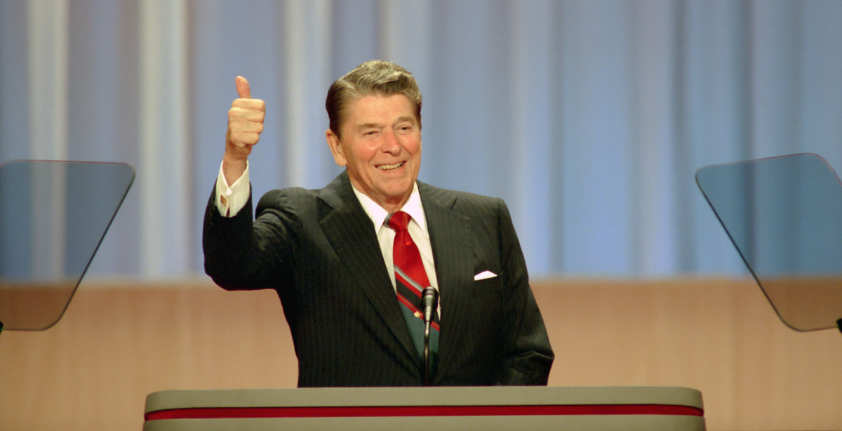 Ronald Reagan in 1988