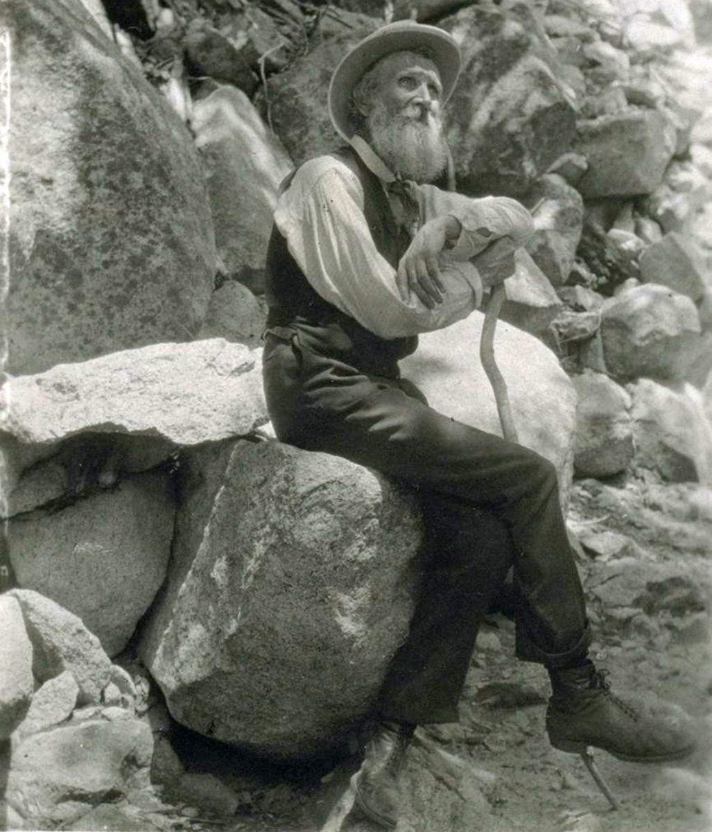 American conservationist John Muir photographed in 1907.