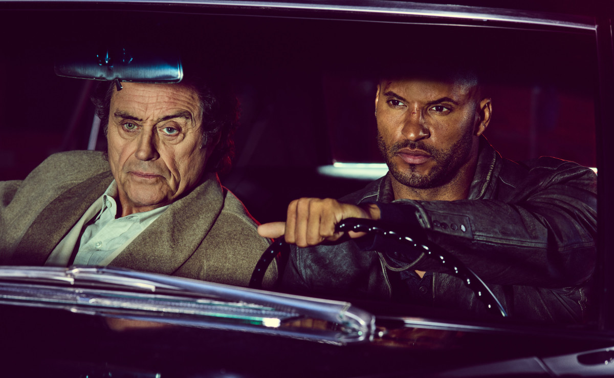 Ian McShan and Ricky Whittle in American Gods