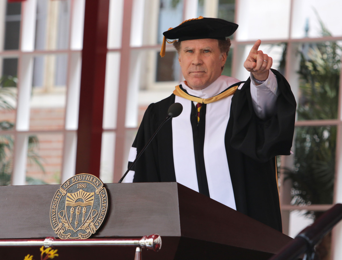 Will Ferrell at 2017 University of Southern California Commencement