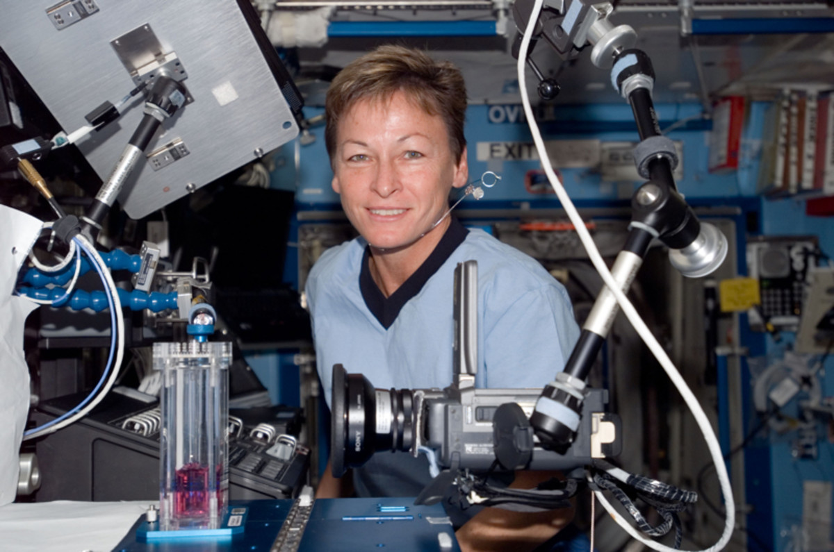 Astronaut Peggy Whitson in 2007