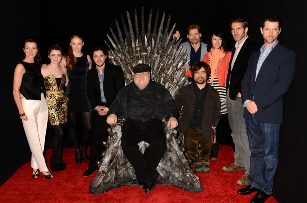 George R.R. Martin and the Game of Thrones cast