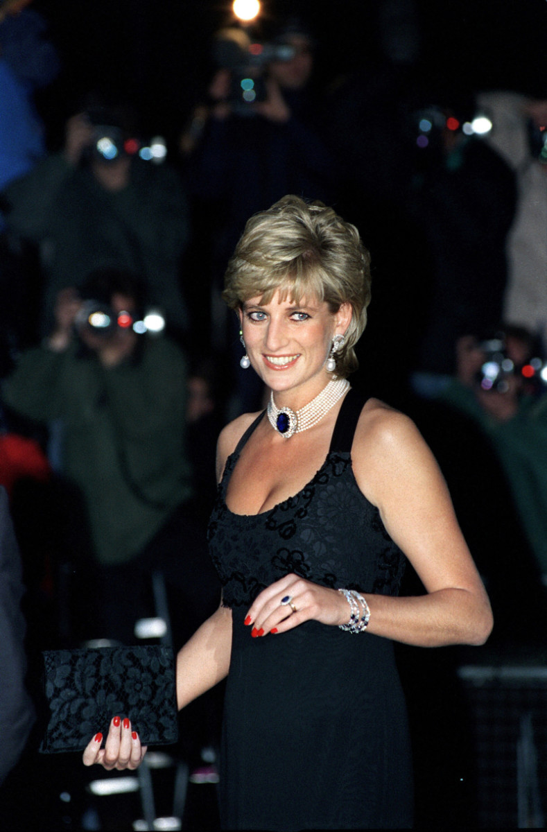 Princess Diana at a gala for cancer research