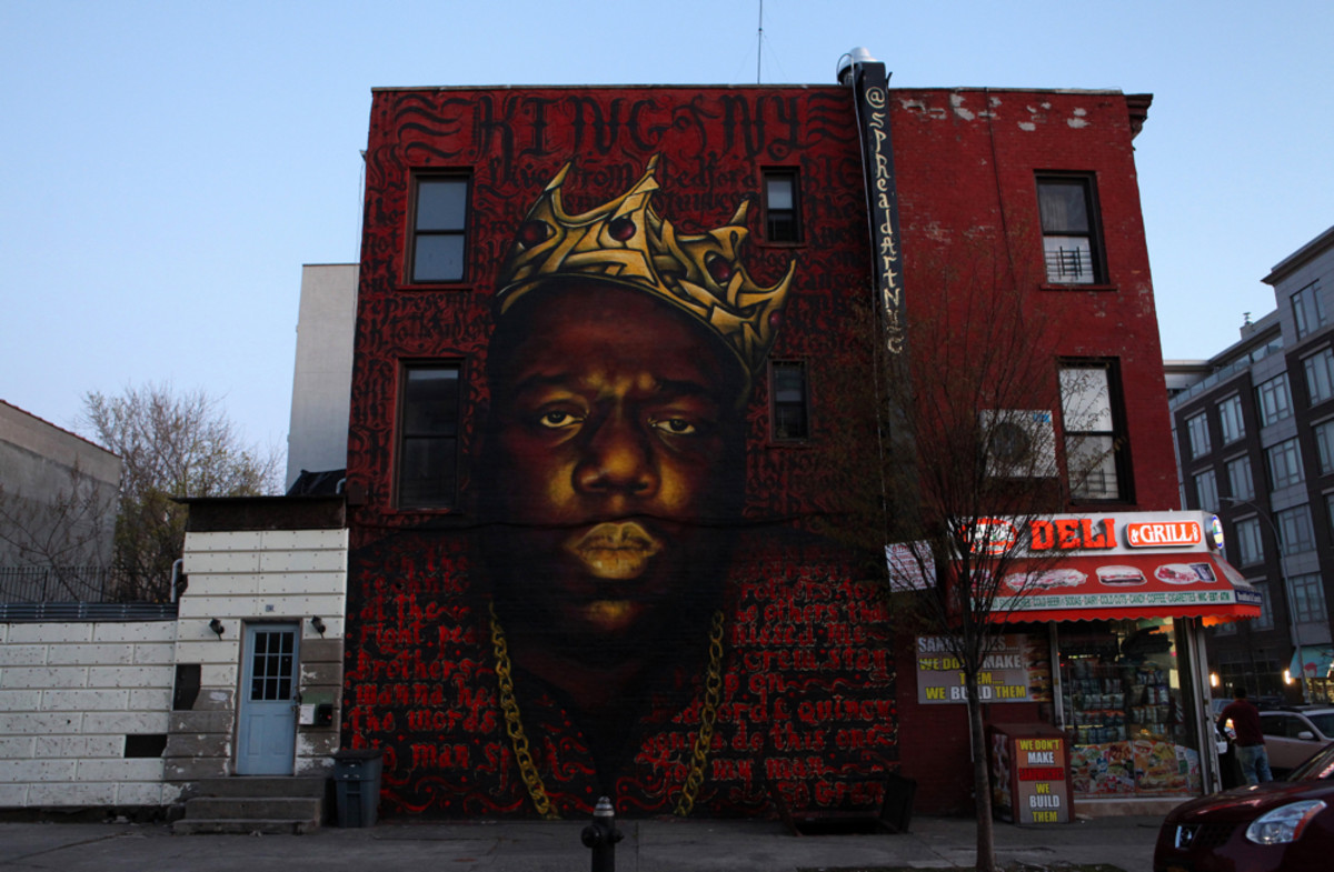 Biggie Smalls mural in Brooklyn