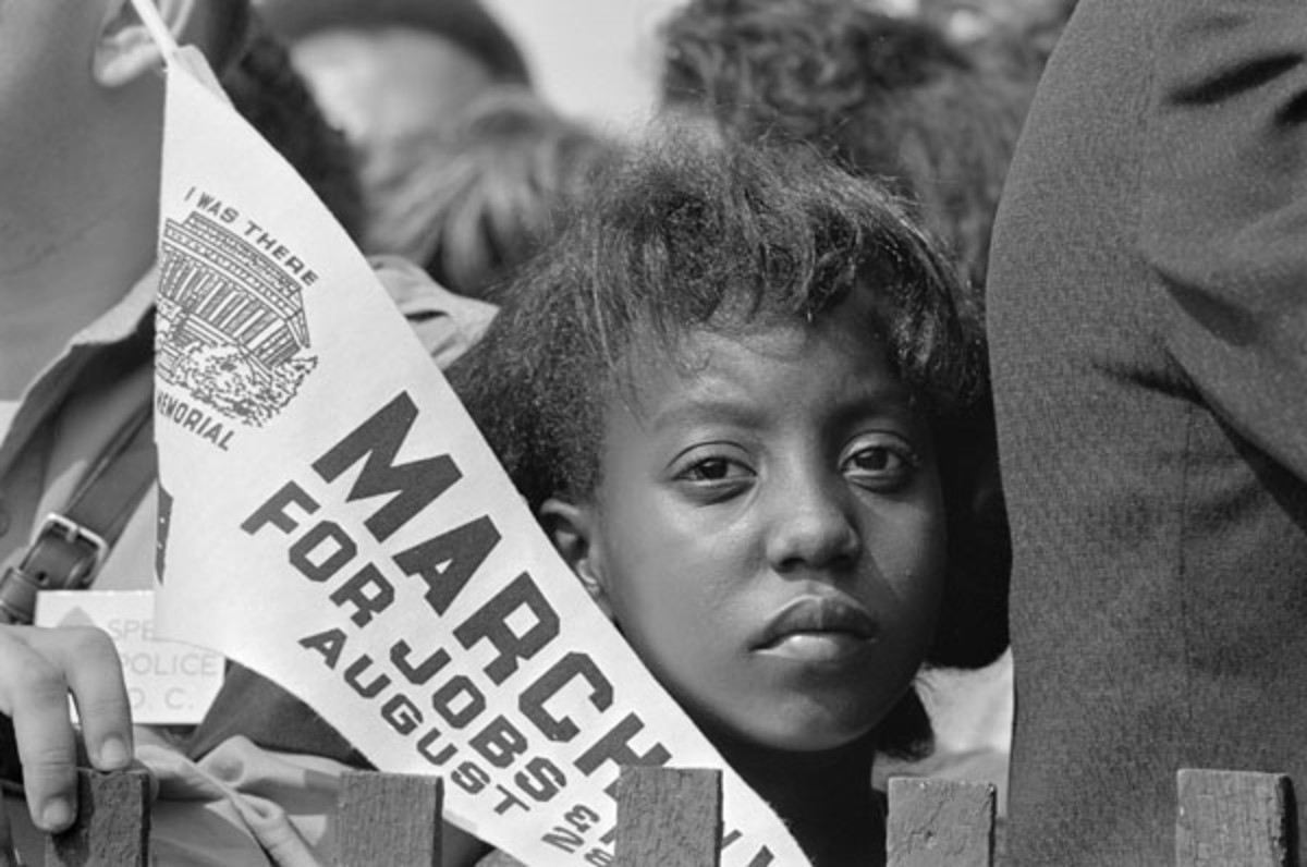 Young demonstrator at the March on Washington