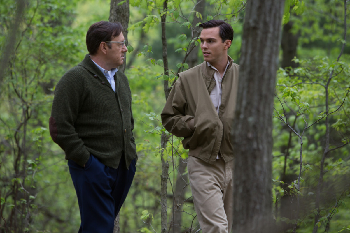 Kevin Spacey and Nicholas Hoult in Rebel in the Rye