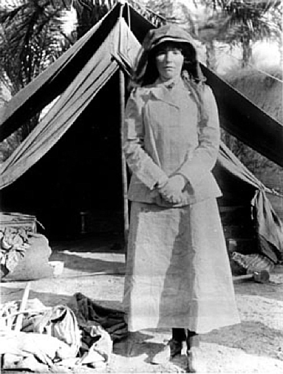 Gertrude Bell in Iraq in 1909 Photo Gertrude Bell Archive Public Domain via Wikimedia Commons