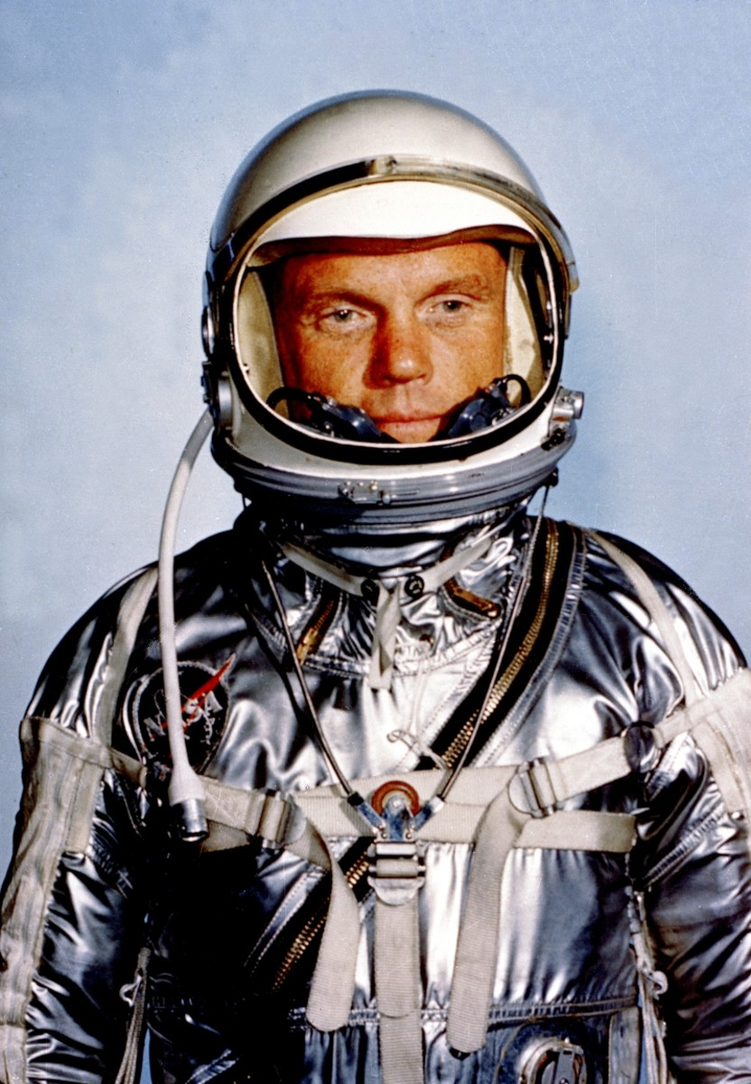 Astronaut John Glenn photographed in February 1962.