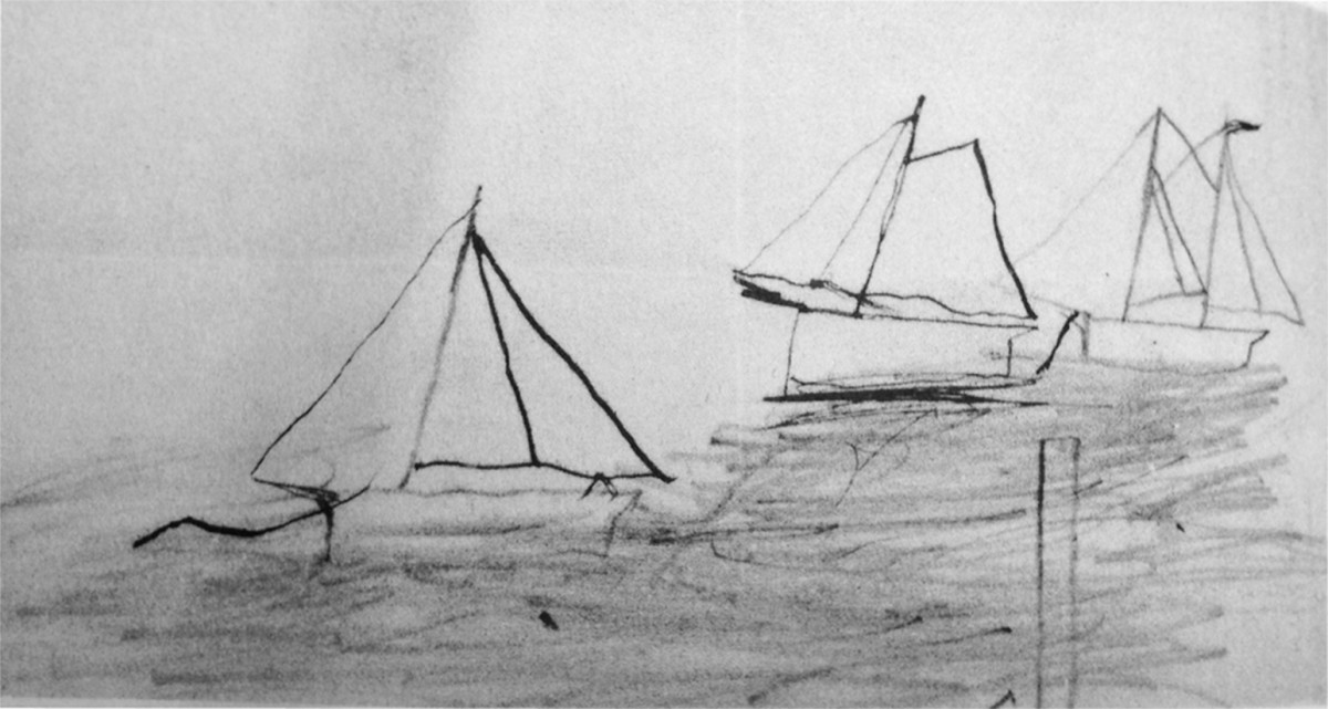 Franklin Delano Roosevelt Sailboat Drawing Photo Courtesy Karen Chase