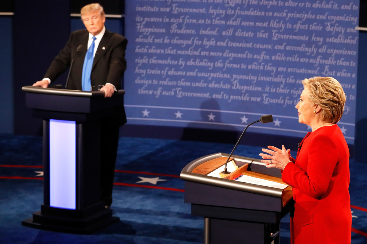 Donald Trump Hillary Clinton Debate Photo