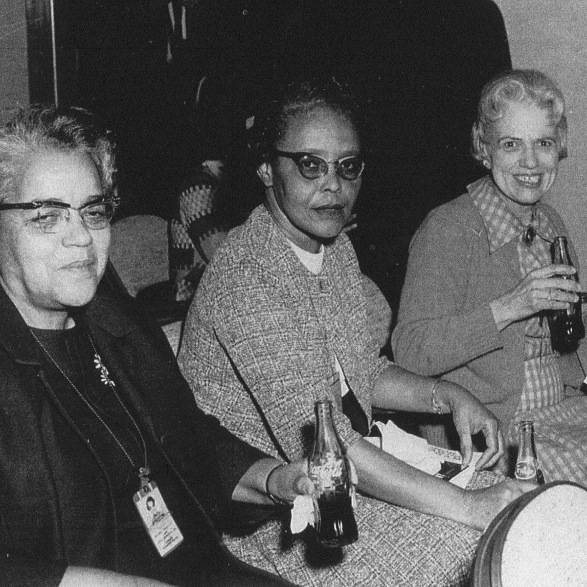 Pictured from left to right: Dorothy Vaughan with Leslie Hunter and Vivian Adair. (Photo: NASA)