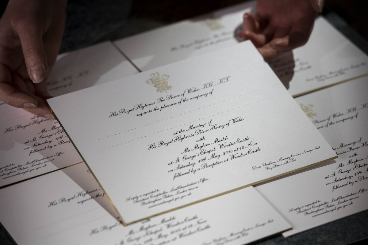 Meghan Markle Prince Harry Royal Wedding Invitations 2018