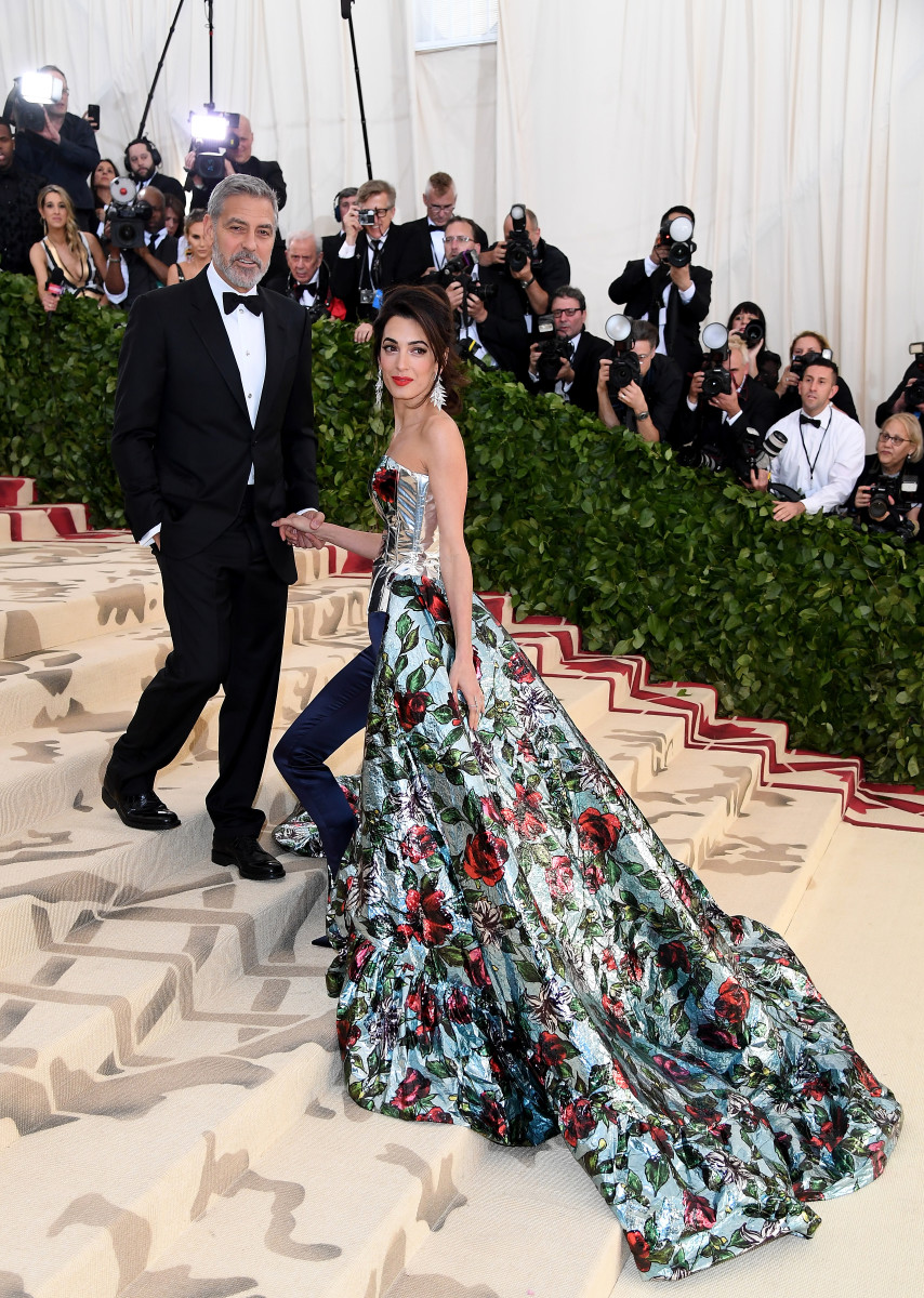 Amal Clooney and George Clooney at the 2018 Met Gala