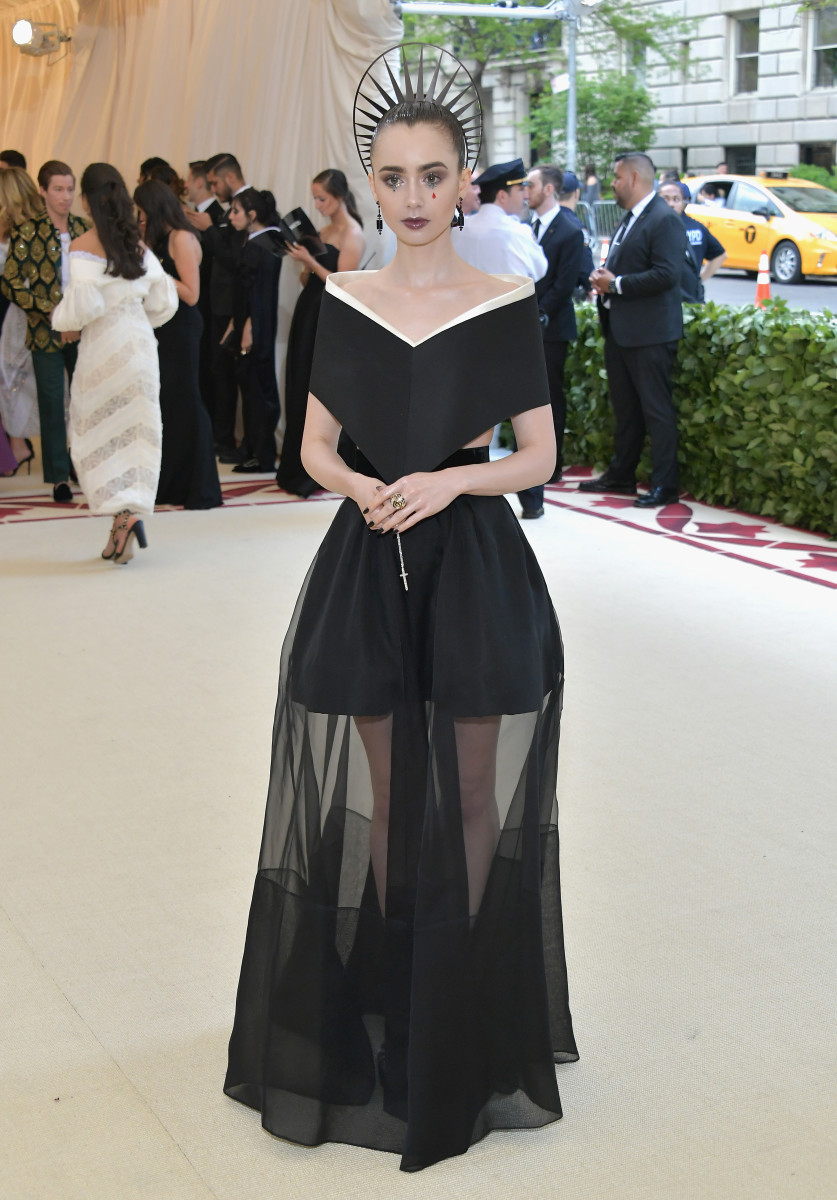 Lily Collins at the 2018 Met Gala