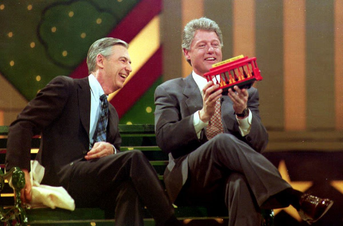 Fred Rogers with Bill Clinton