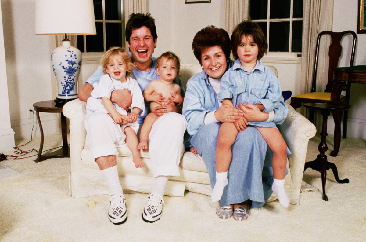 Osbourne Family 90s Photo