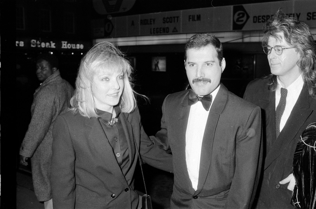 Freddie Mercury and Mary Austin in London in 1986