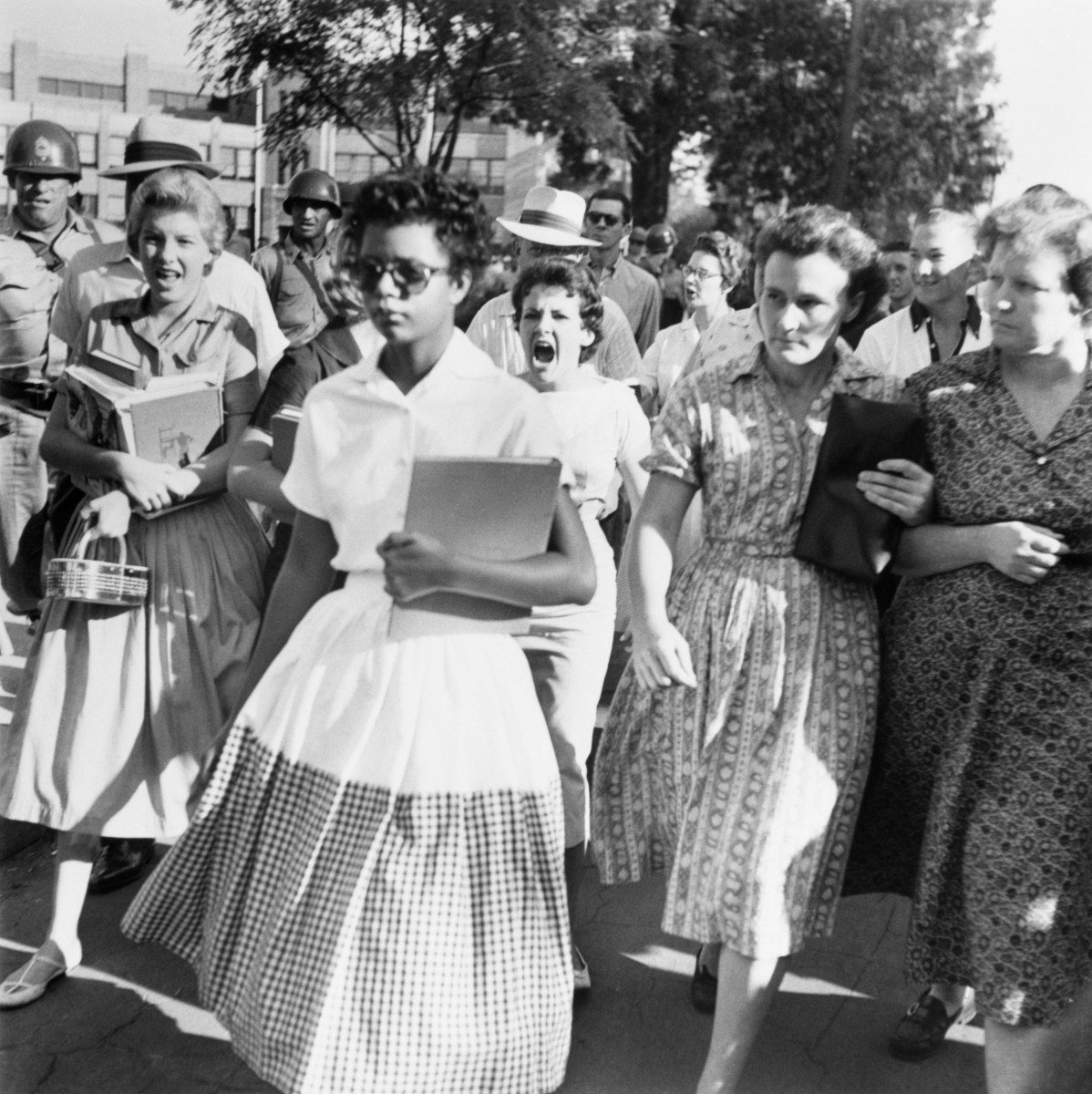 Elizabeth Eckford Little Rock Nine Photo
