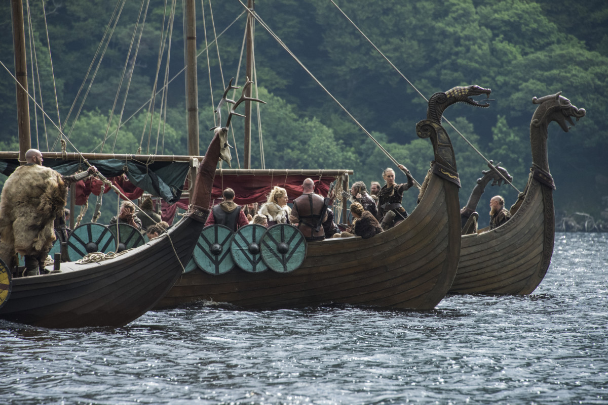 Viking ships from Vikings