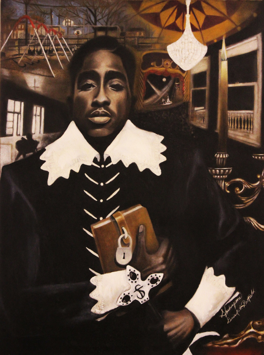 Shakurspeare Painting of Tupac