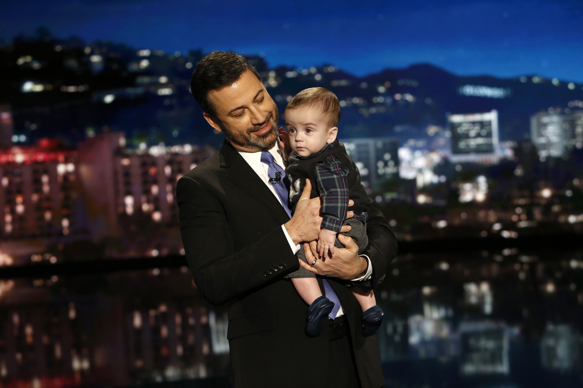 Jimmy Kimmel and Son Photo