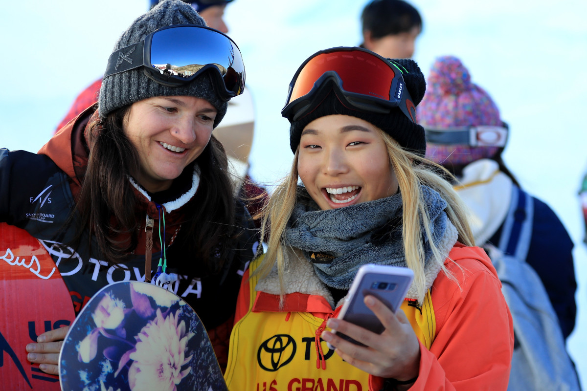 Kelly Clark and Chloe Kim Photo