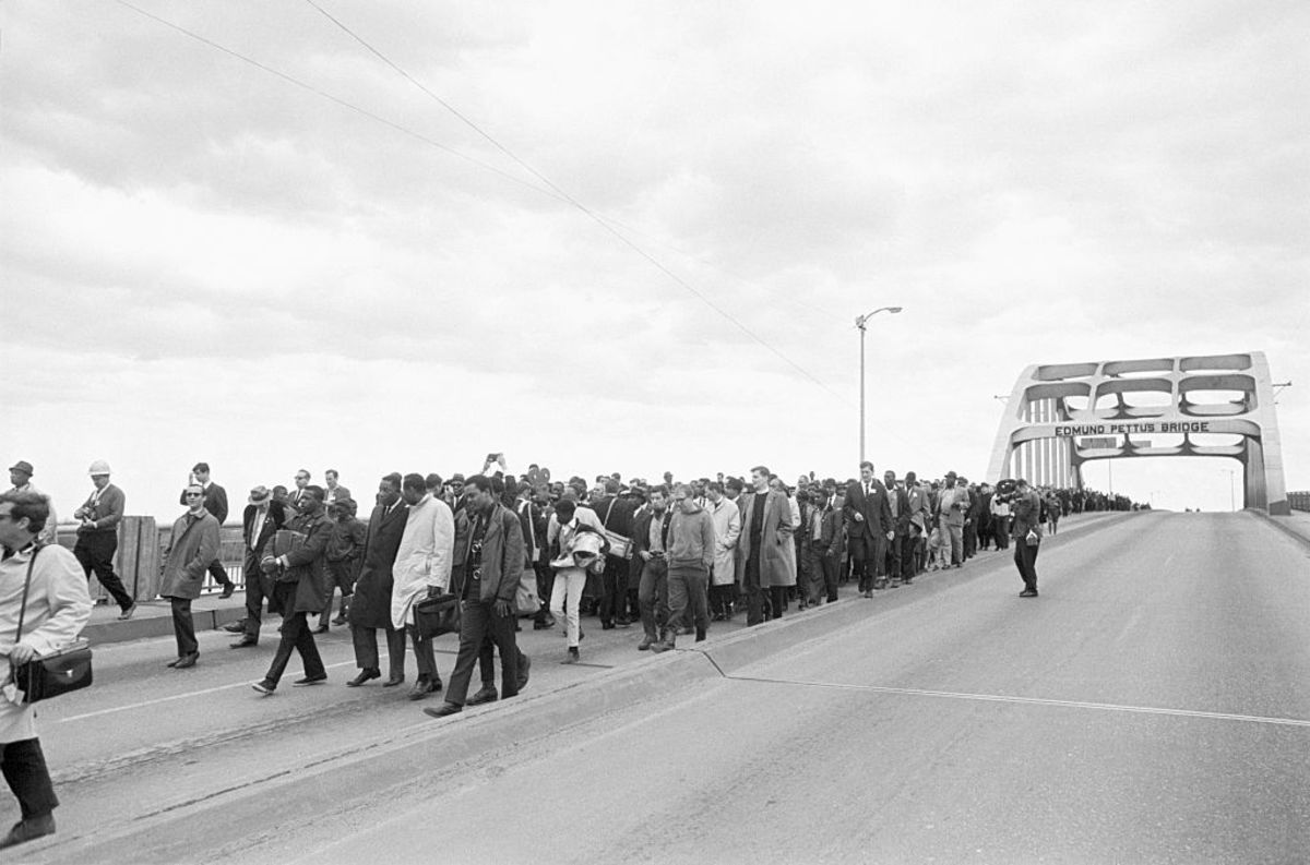 Selma March Edmund Pettus Bridge 1965 Photo