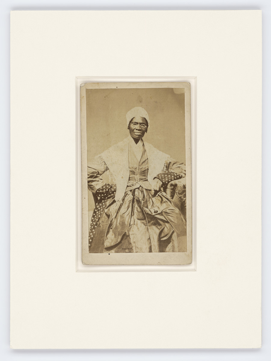 Carte-de-visite of Sojourner Truth, CA. 1866 Collection of the Smithsonian National Museum of African American History and Culture, 2012.46.11