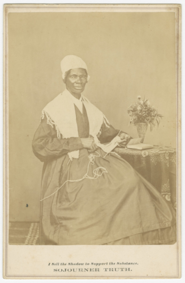 Cabinet card of Sojourner Truth, 1864.