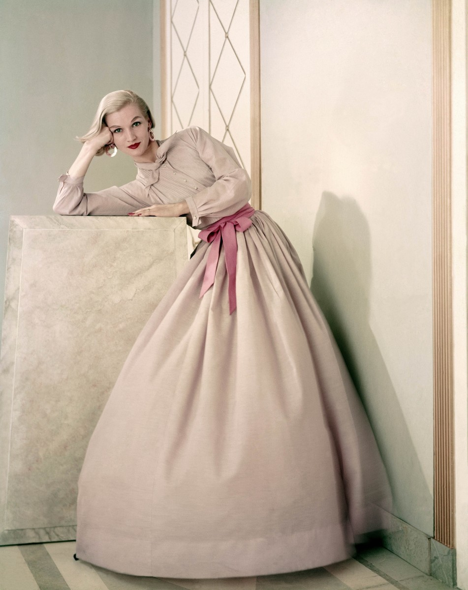 """""""Claire McCardell Dress"""" on Model Photo"""