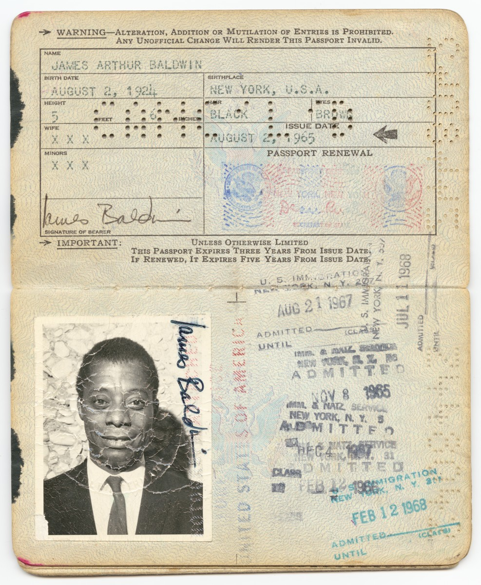 James Baldwin Passport 1965 Photo