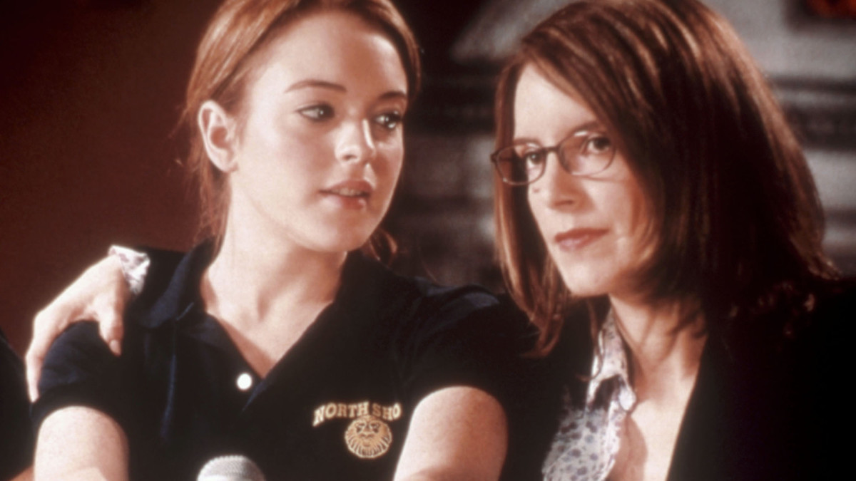 Lindsay Lohan and Tina Fey in Mean Girls