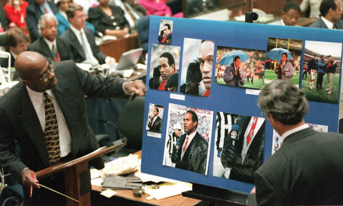 Christopher Darden presenting evidence during the O.J. Simpson case