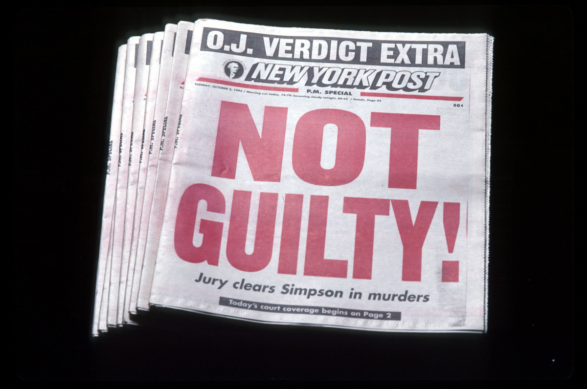 The cover of NY Post when O.J. Simpson was found not guilty