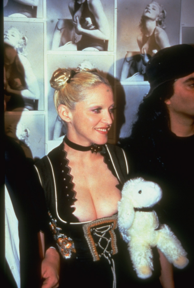Madonna at a party celebrating the release of her book Sex