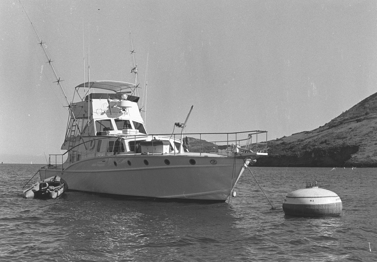 The yatch that Natalie Wood fell off of, the Splendour
