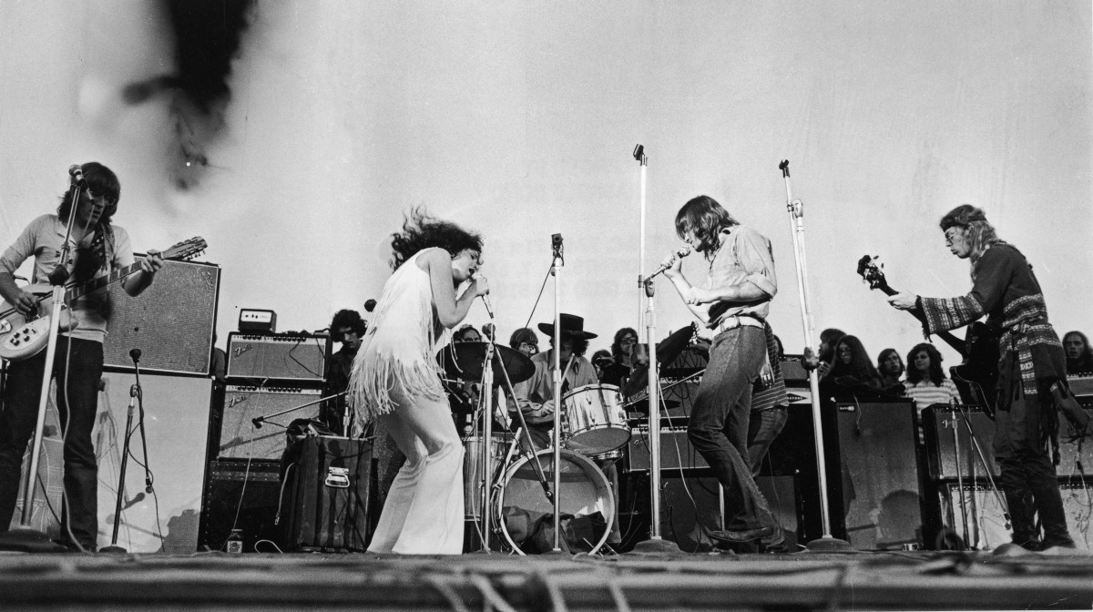 Jefferson Airplane at Woodstock music festival