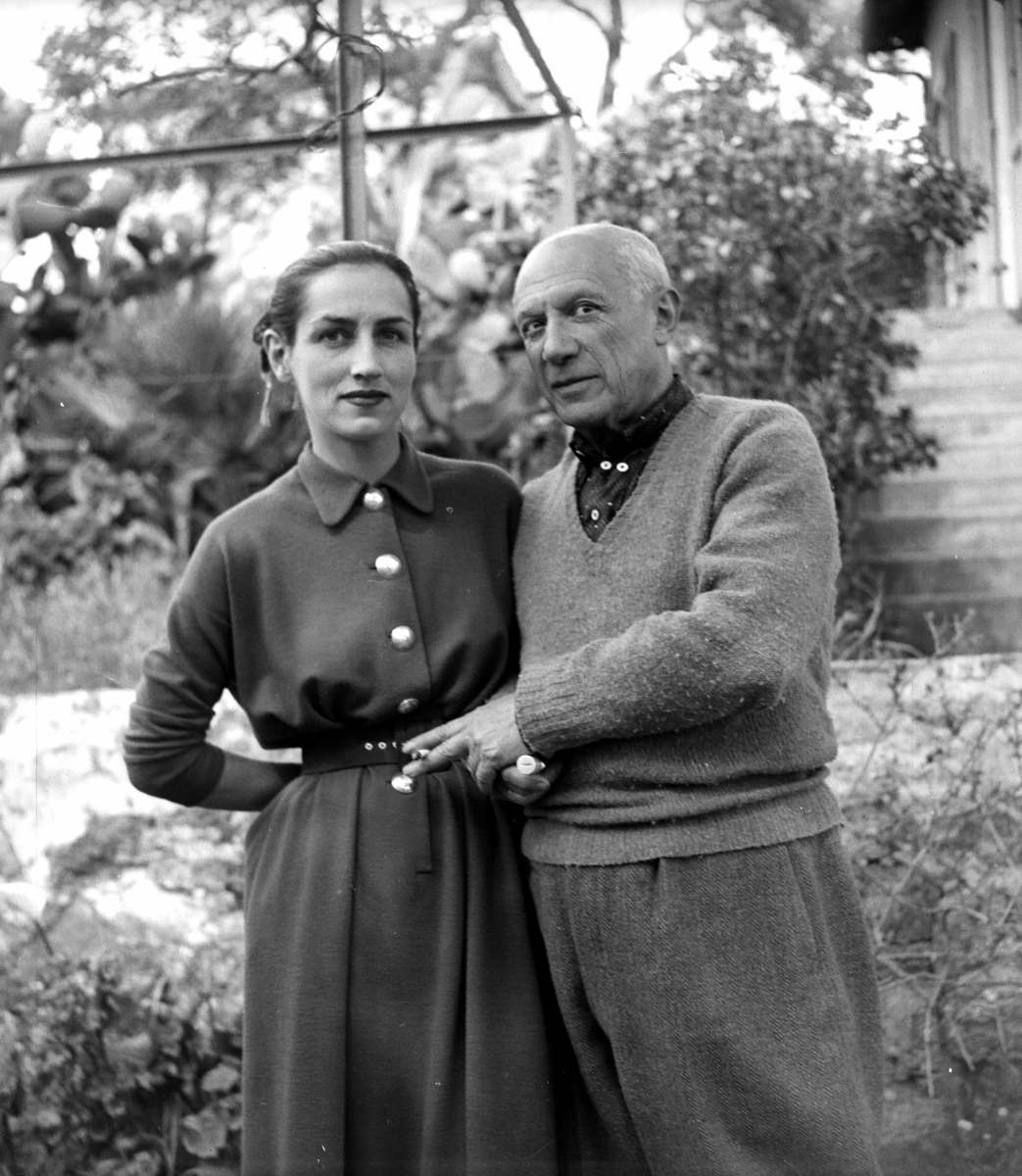 Francoise Gilot and Pablo Picasso in 1951