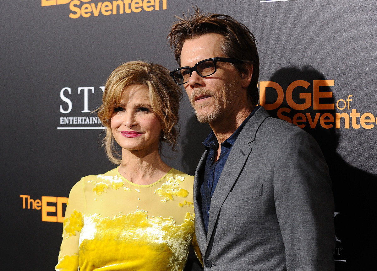 "Kyra Sedgwick and actor Kevin Bacon attend a screening of ""The Edge of Seventeen"" at Regal LA Live Stadium 14 on November 9, 2016 in Los Angeles, California"