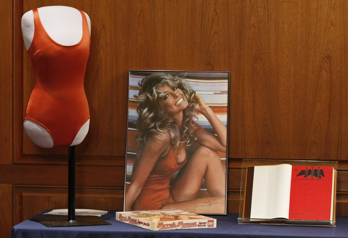 Farrah Fawcett Memorabilia Donation at the Smithsonian National Museum Of American History on February 2, 2011 in Washington, DC