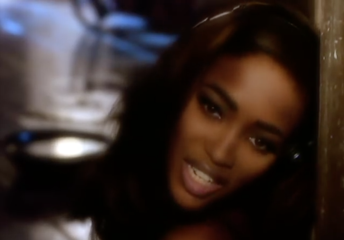 Naomi Campbell in the Freedom '90 music video
