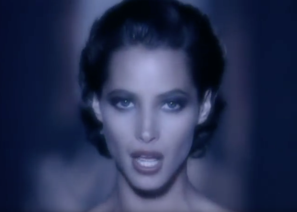 Christy Turlington Burns in the Freedom '90 music video