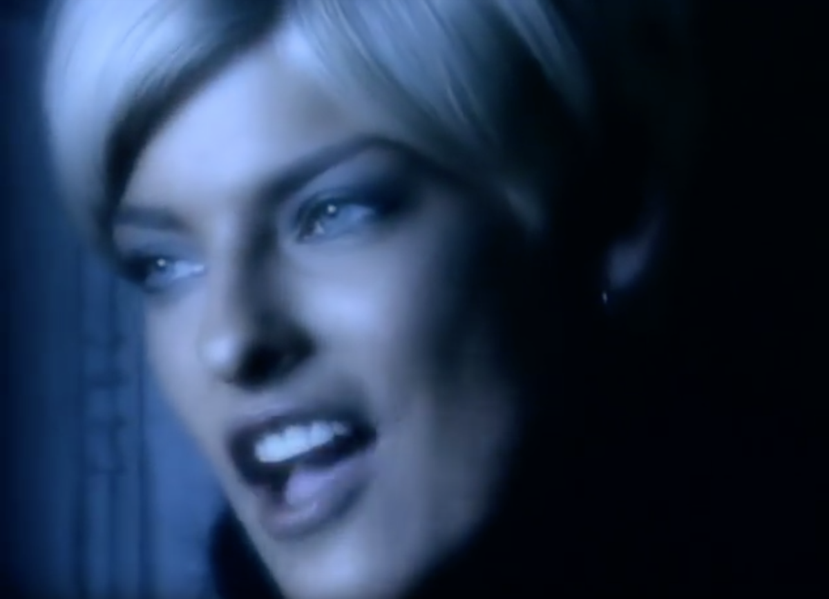 Linda Evangelista in the Freedom '90 music video