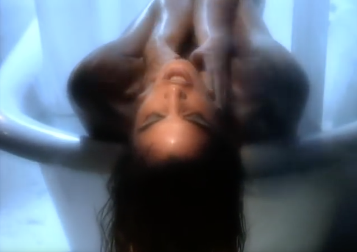 Cindy Crawford in the Freedom '90 music video