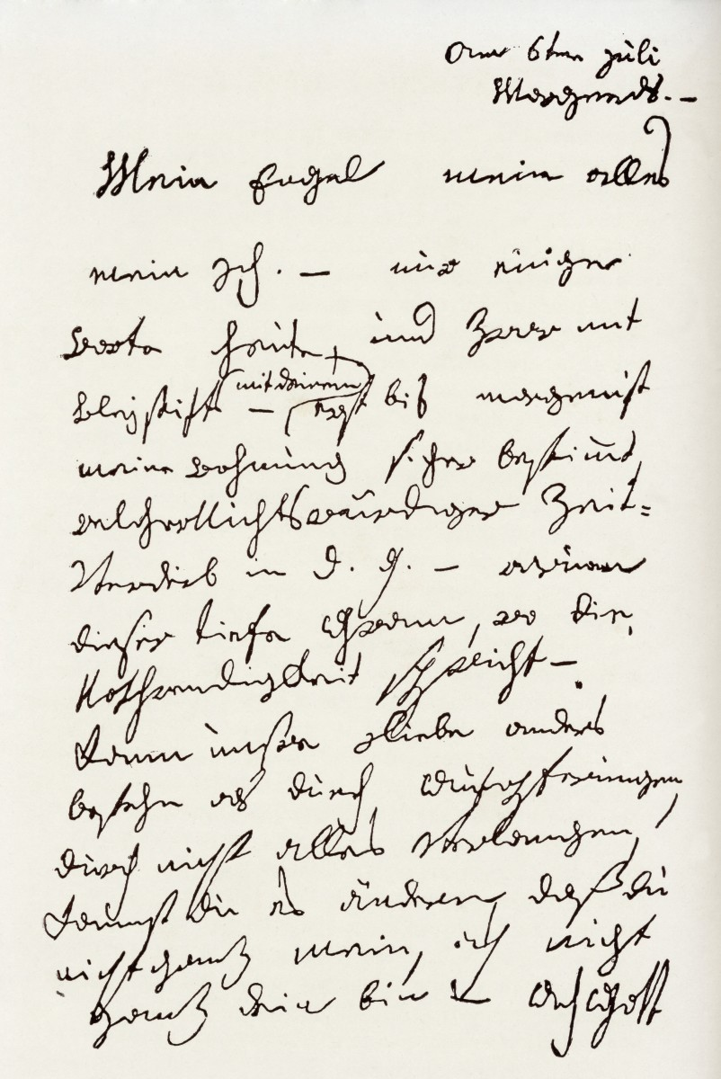 Handwritten 'Immortal Beloved' letter from Beethoven