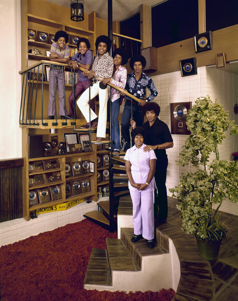 The Jackson 5 with their parents Joseph and Katherine