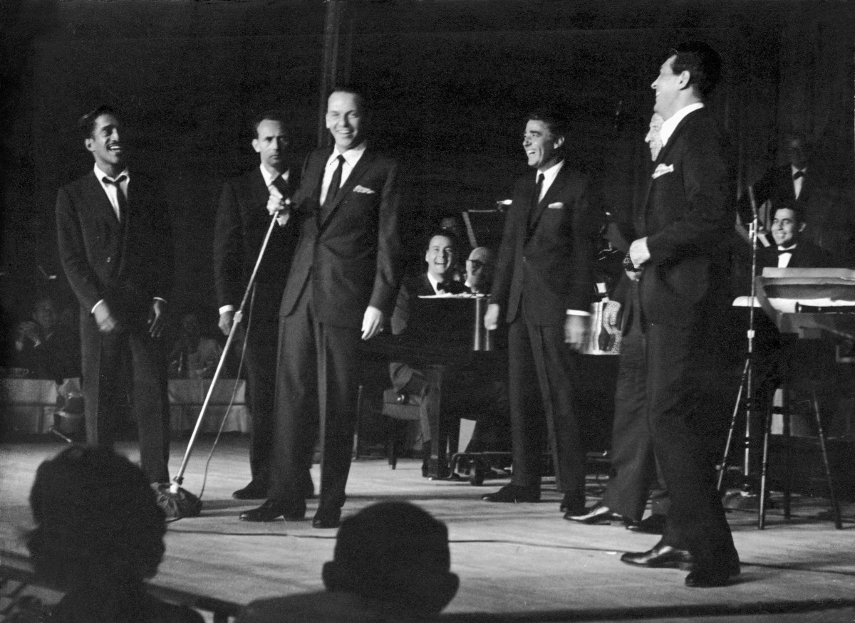 The Rat Pack perform on stage Las Vegas