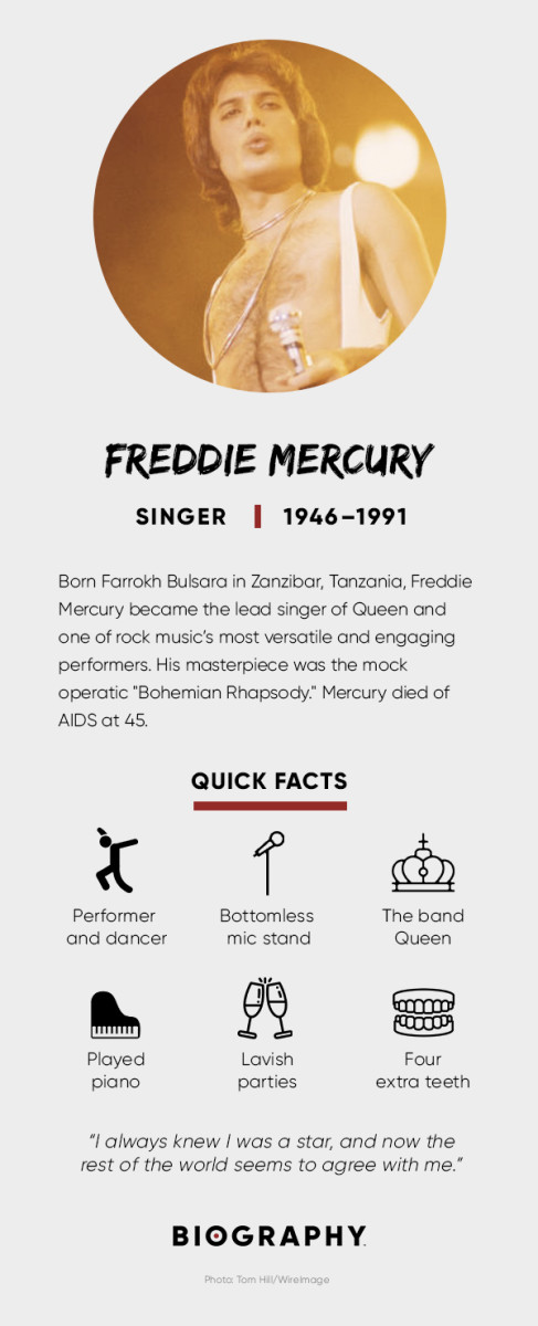 Freddie Mercury Fact Card